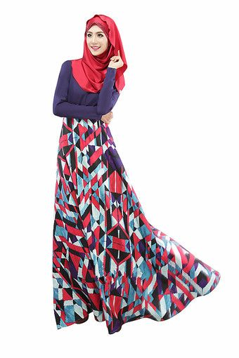 4417ae1062c Muslim Dress Kaftan Abaya Islamic Muslim Party Wear Long Sleeve Floral Maxi  Dress RM 115.00