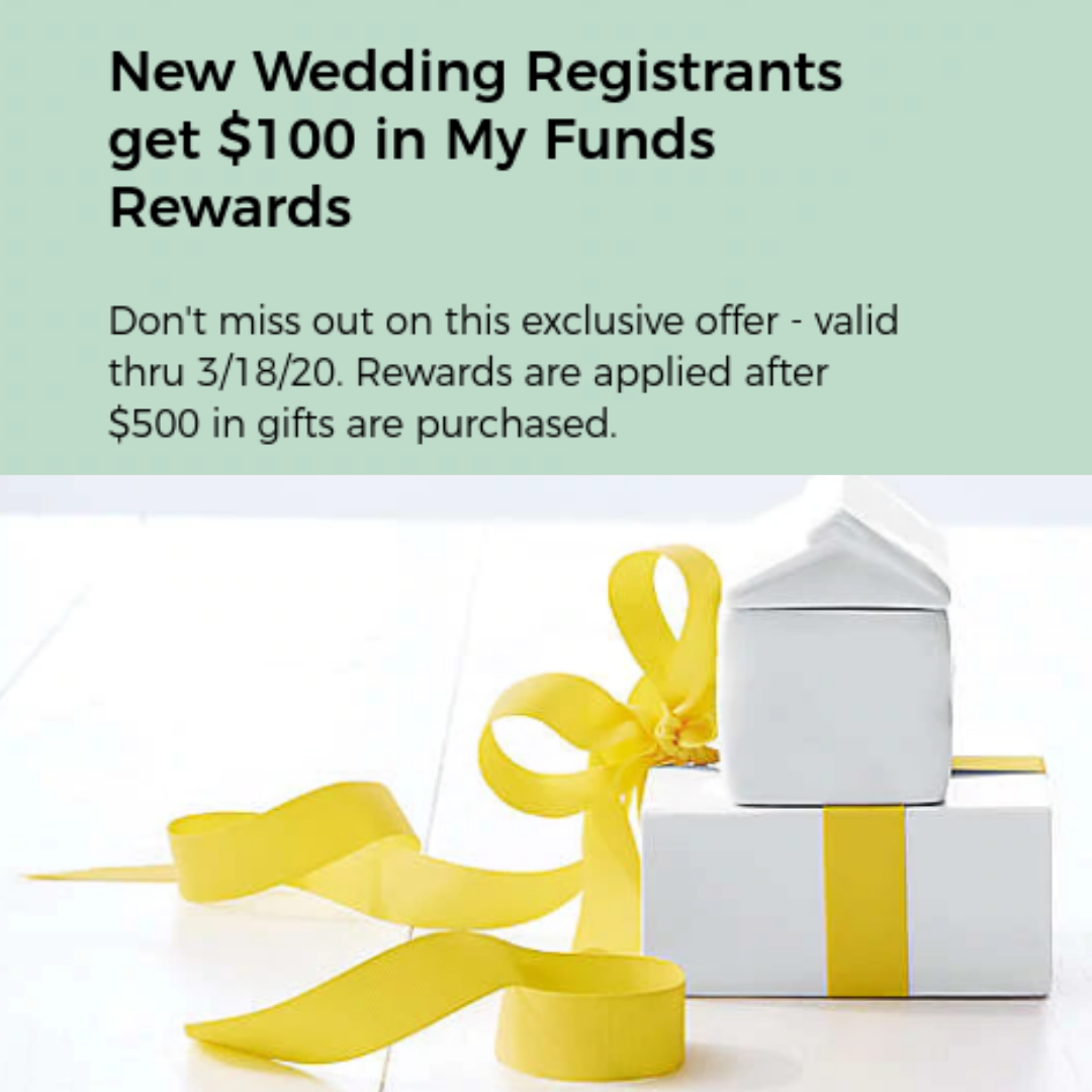 Get 100 Bonus For Bed Bath Beyond Wedding Registry Swaggrabber In 2020 Wedding Registry Registry Wedding