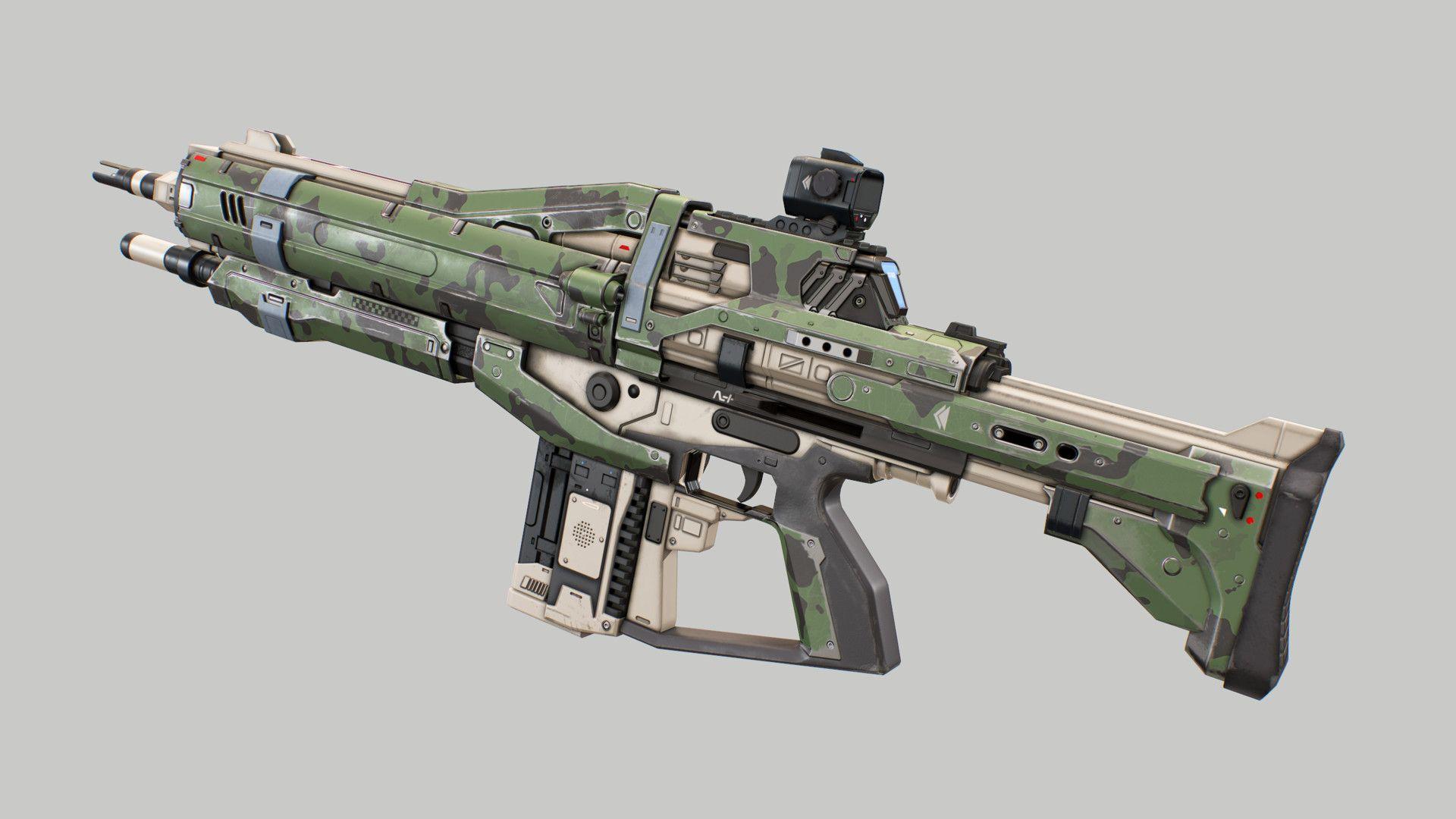 ArtStation - Assault Rifle 2 (Destiny), Dmitriy Pantyukov