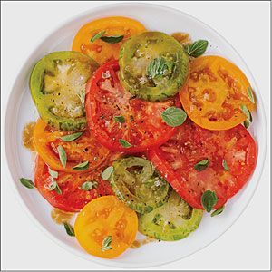 Heirloom Tomato Salad with Pomegranate Drizzle | MyRecipes.com
