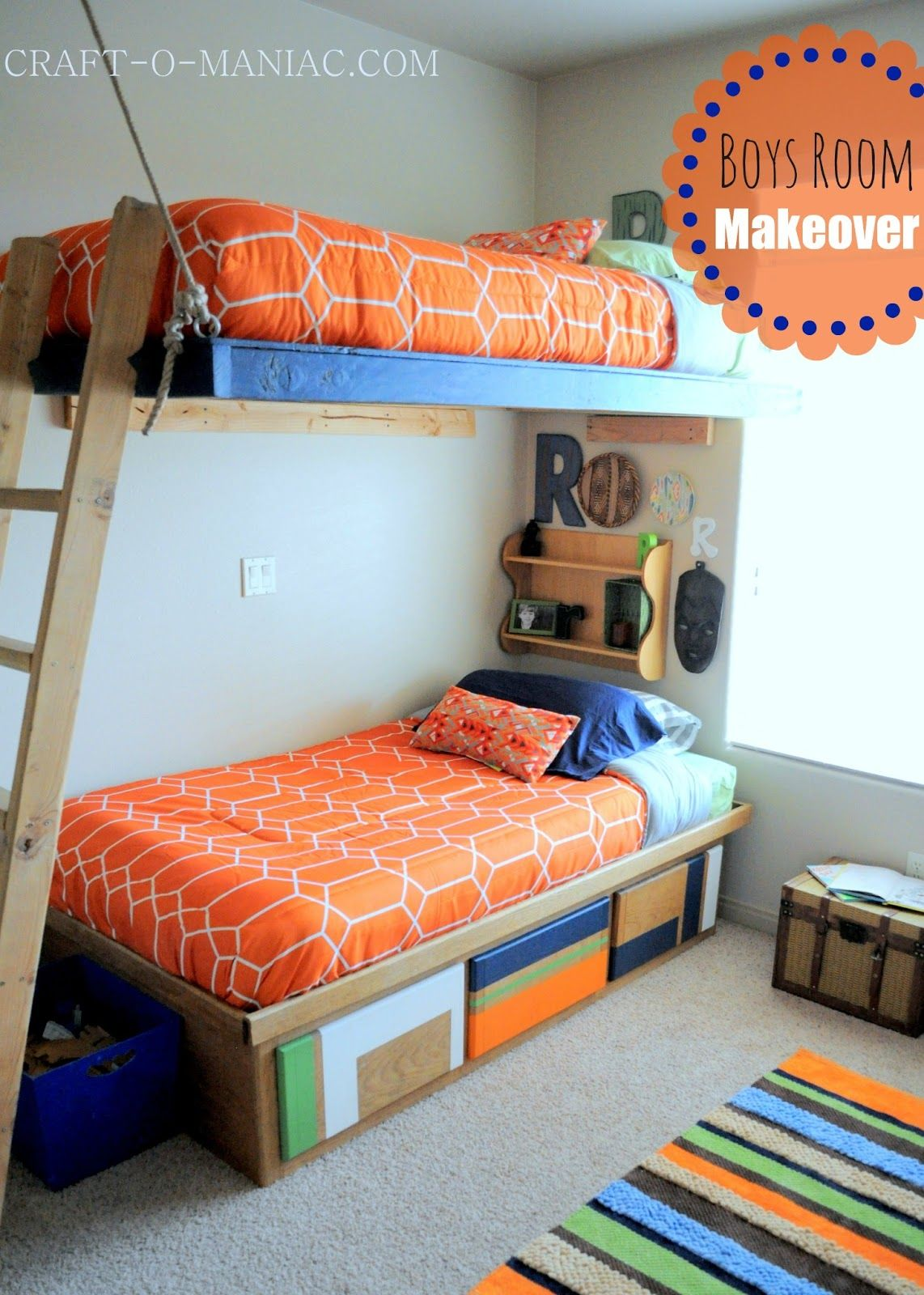 boys bedroom makeover reveal chambres chambres de gar on et chambre enfant. Black Bedroom Furniture Sets. Home Design Ideas