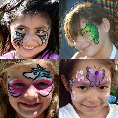 Face Painting (Click on the smaller images to Enlarge) Garden Grove - halloween decoration rentals