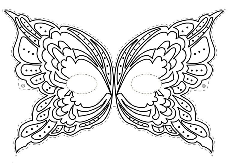 Disegni Carnevale Da Colorare Disegno Di Una Farfalla Mascherina