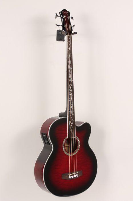 Michael Kelly Dragonfly 4 Fretless Acoustic Bass Trans Black Cherry 886830798085 Cours De Guitare Guitare Bass