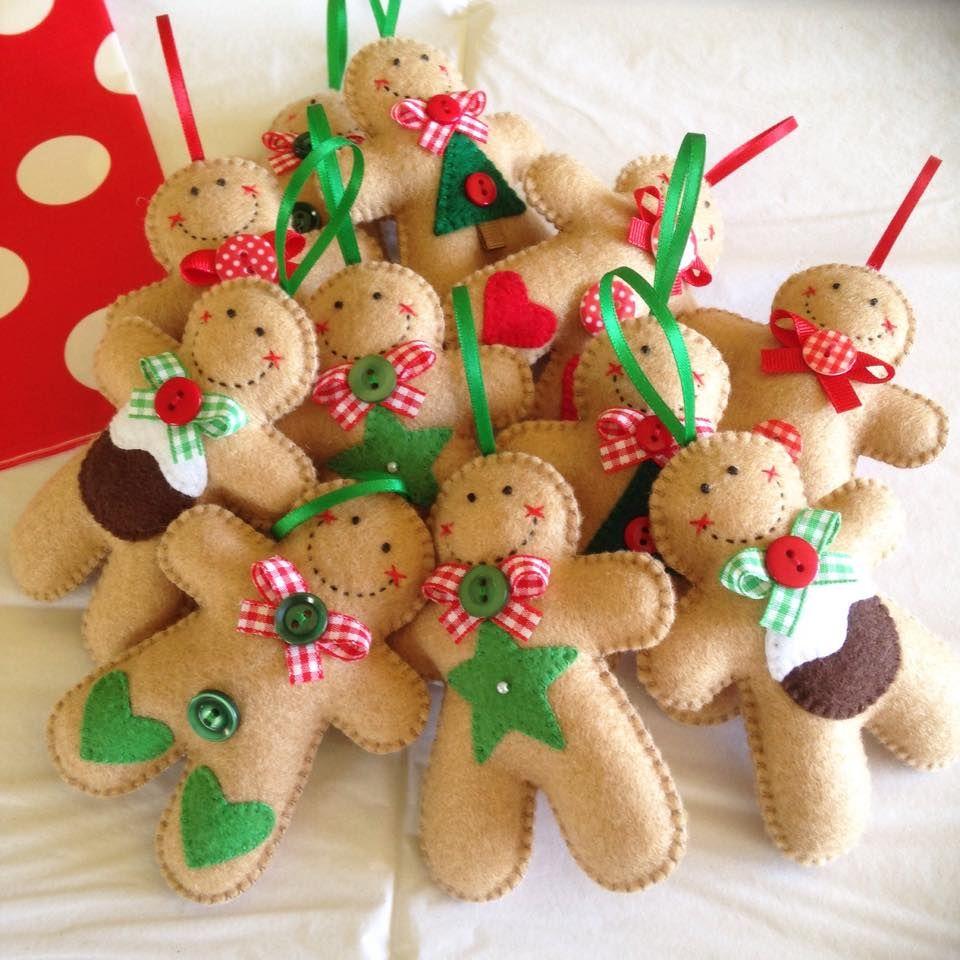 Felt Gingerbread Man Ornament Joybelles Felt Christmas