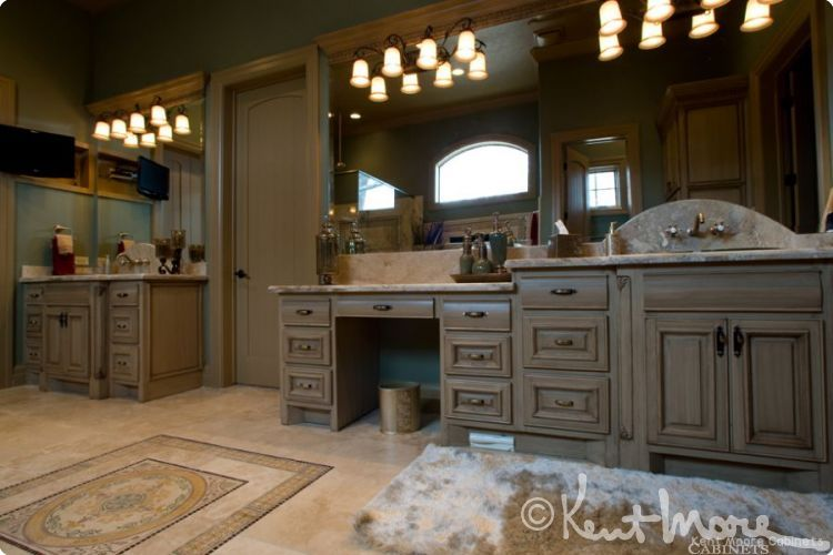 Custom Bath Cabinets By Kent Moore Cabinets. Birch Wood With Unfinished  Paint Grade Finish