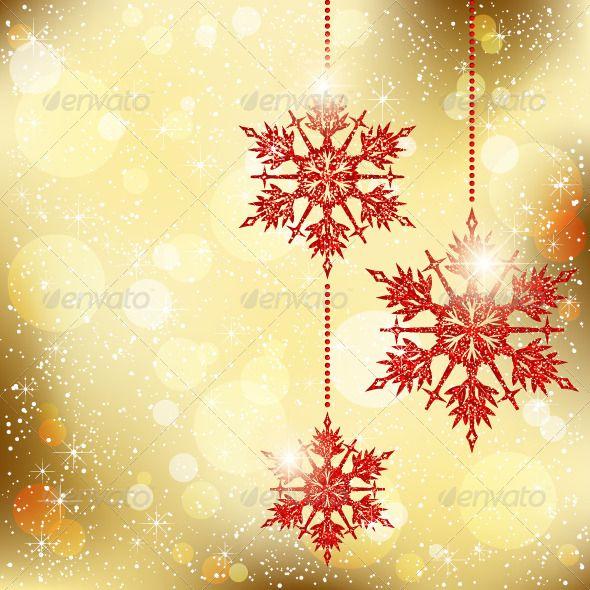 Christmas Snowflakes Greeting Card Christmas Snowflakes Holiday Illustrations Christmas Templates