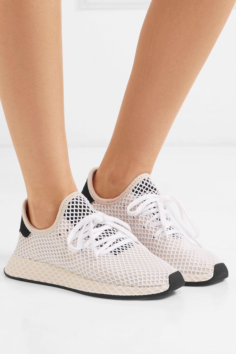adidas Originals | Deerupt Runner suede-trimmed mesh ...
