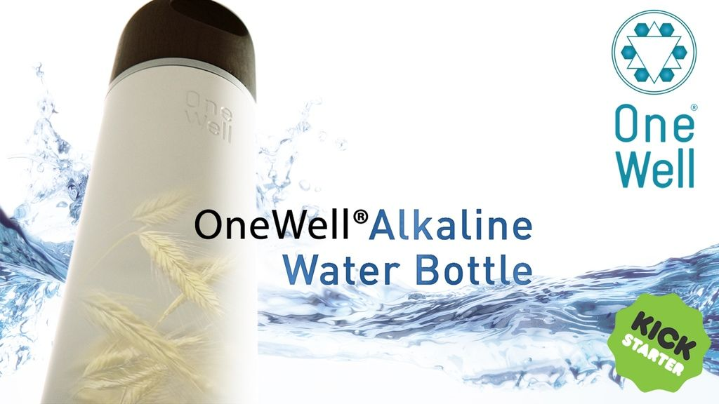 OneWell Alkaline Water Bottle (bio-degradable & filter-free