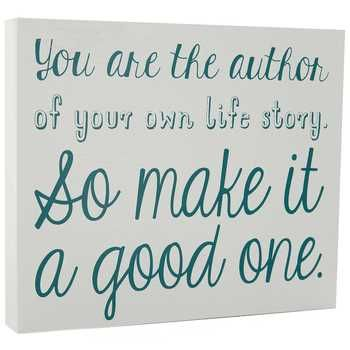 & Sign Wall Decor You Are The Author Wood Sign  Hobby Lobby  Quotes And Sayings
