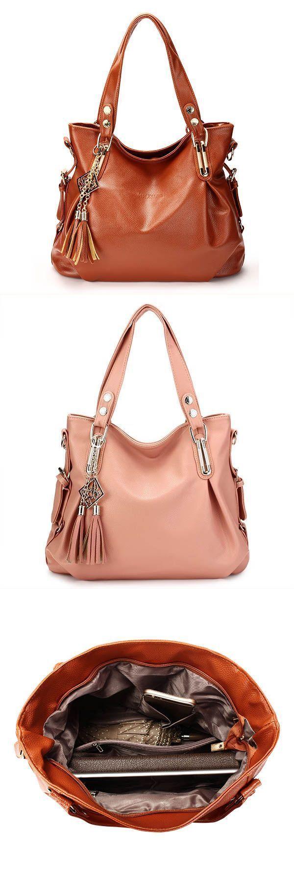 Women retro tassel handbags casual shoulder bags crossbody bags handbags 4  less  3  section 36cf801b62