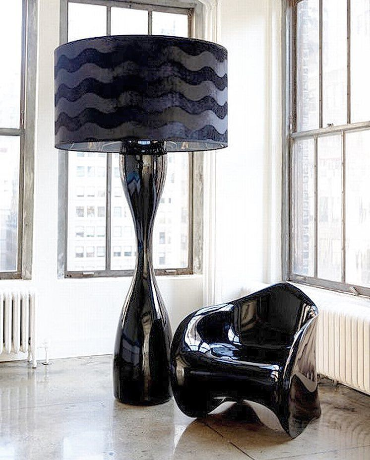 Oversized Jet Floor Lamp Measures Over 6ft Tall With A 4ft