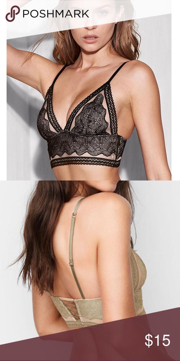 4b2923d835ce7 Victoria s Secret Lace Bra Bralette Longline Lace New with Tags