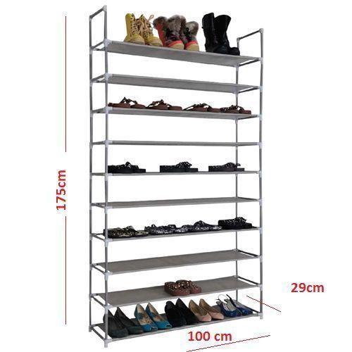 Schuhregal Fur 50paar Schuhe 10 Boden Schuhschrank Schuhstander