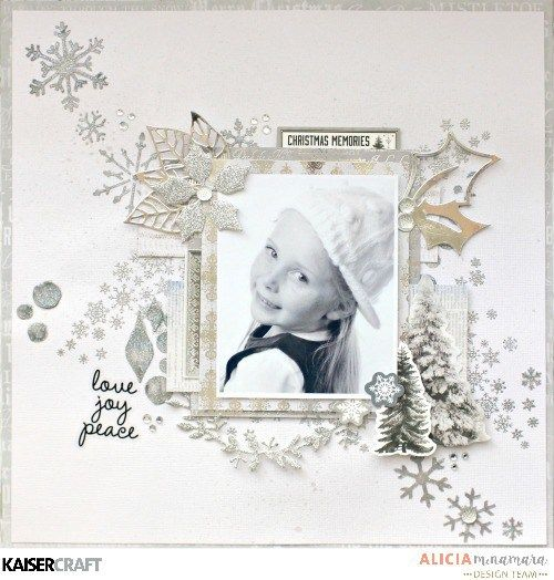 Kaisercraft Frosted Layout by Alicia McNamara with Process Video
