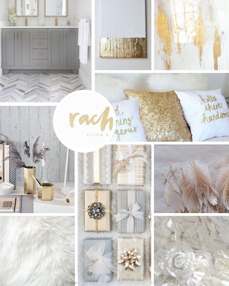 Gold Grey Blog Design Branding Inspiration