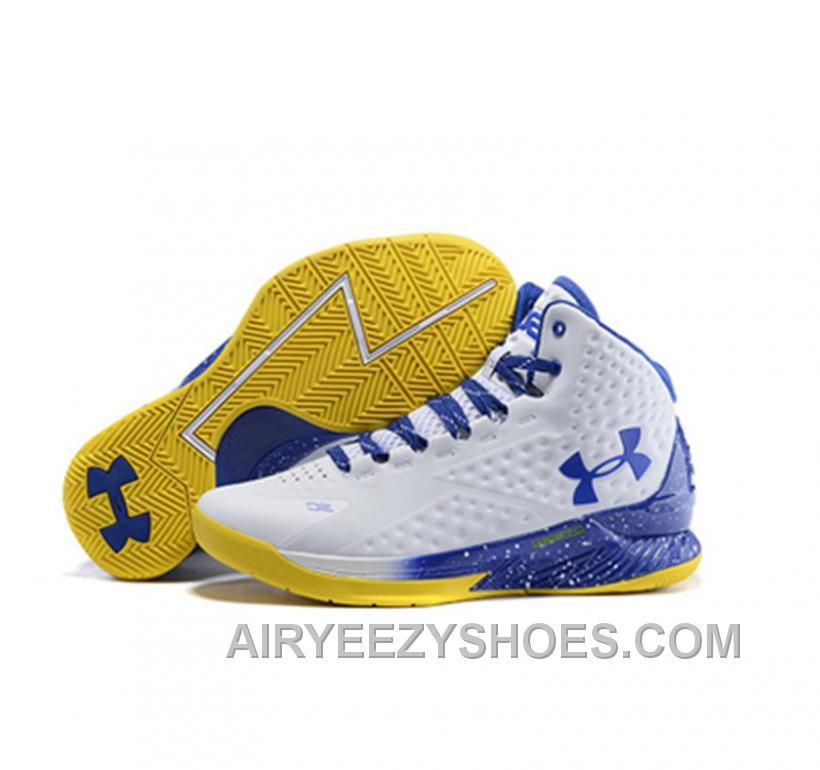 steph curry shoes white and blue
