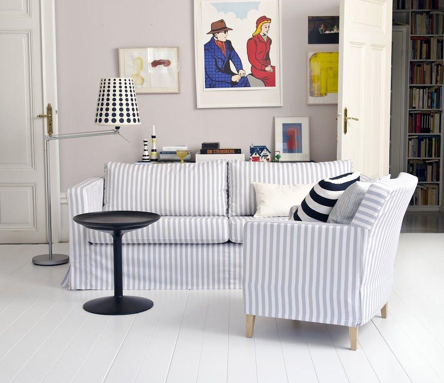 Bemz Karlstad: Karlstad, 3 Seater Sofa Cover, Long Skirt