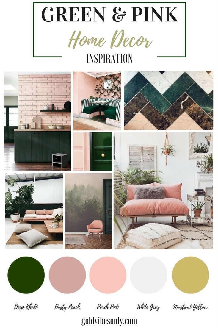 The New Classic Green And Pink Interior Home Decor Decor Color
