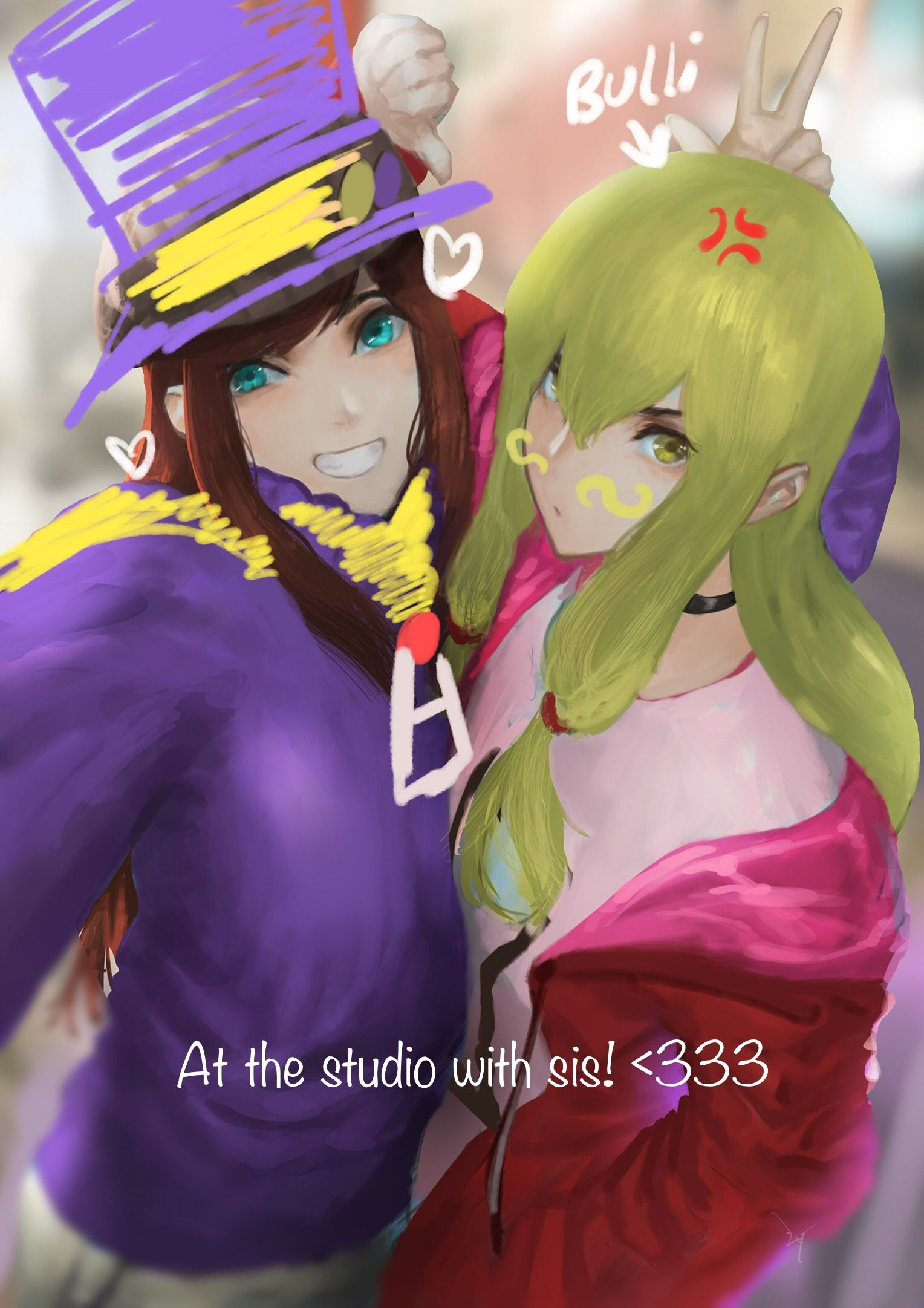 Pin By Josh On Vg Hub A Hat In Time Fanart A Hat In Time Girl With Hat