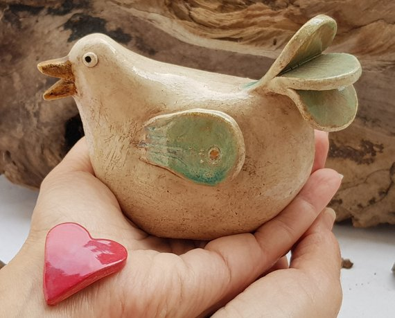 Collectibles Bird Figurines Ceramic Bird Sculpture Animal Statue Home And Garden Art Living Room