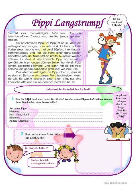 Pippi Langstrumpf Pippi Langstrumpf Pippi Deutsch Lernen Kinder