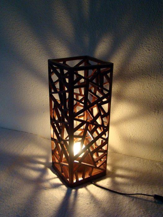 lampa drewniana inspiraciones casa pinterest lampes carton et lampe en carton. Black Bedroom Furniture Sets. Home Design Ideas