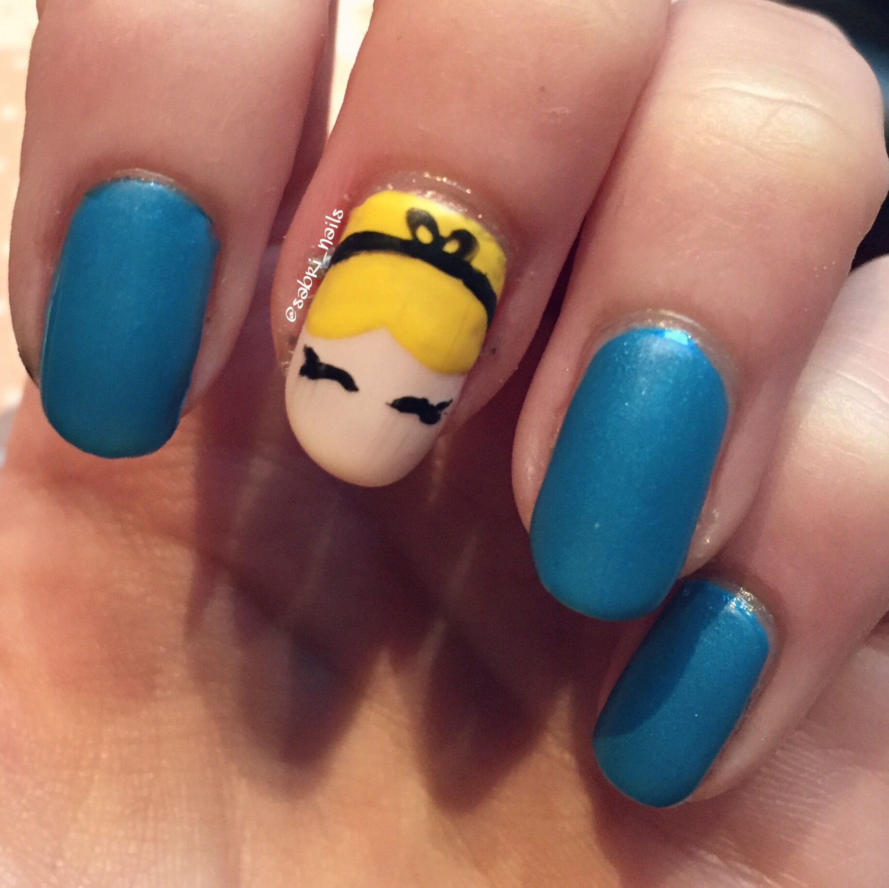 Cinderella Nail Design Uas Pinterest Cinderella Nails