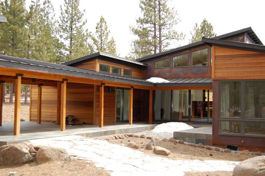 Great Mix Of Corten Steel Siding And Cedar Siding Steel Siding Cedar Siding Contemporary House