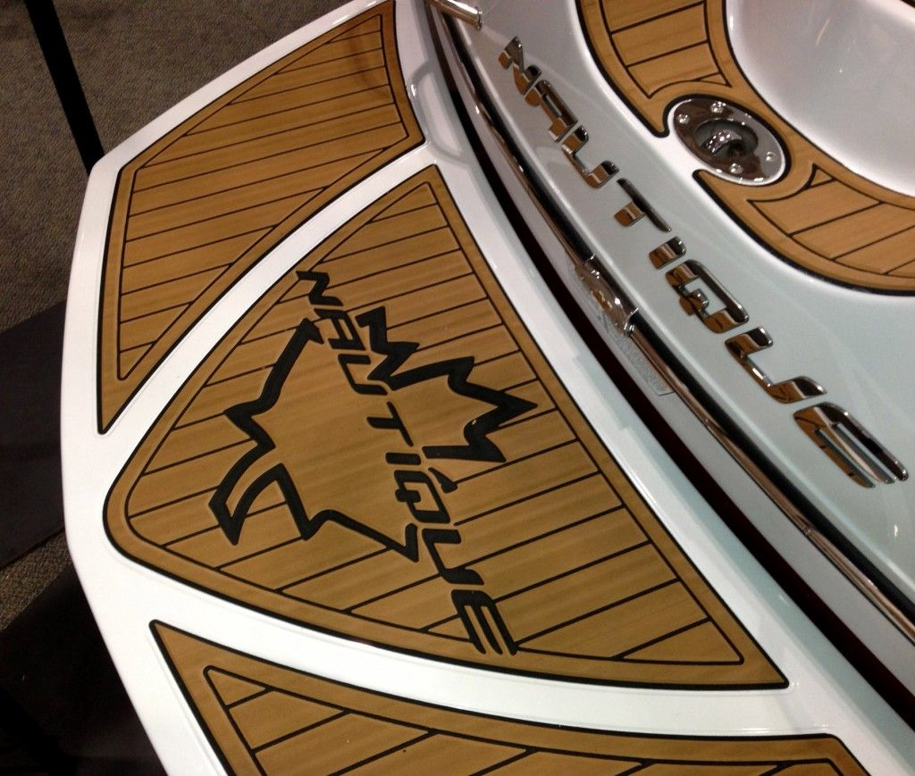 Pride Marine Group Edition Of The Super Air Nautique 230 This Custom Canadian Themed Seadek Kit Is Made From Brown Over Black Cl Marine Eva Foam Vehicle Logos