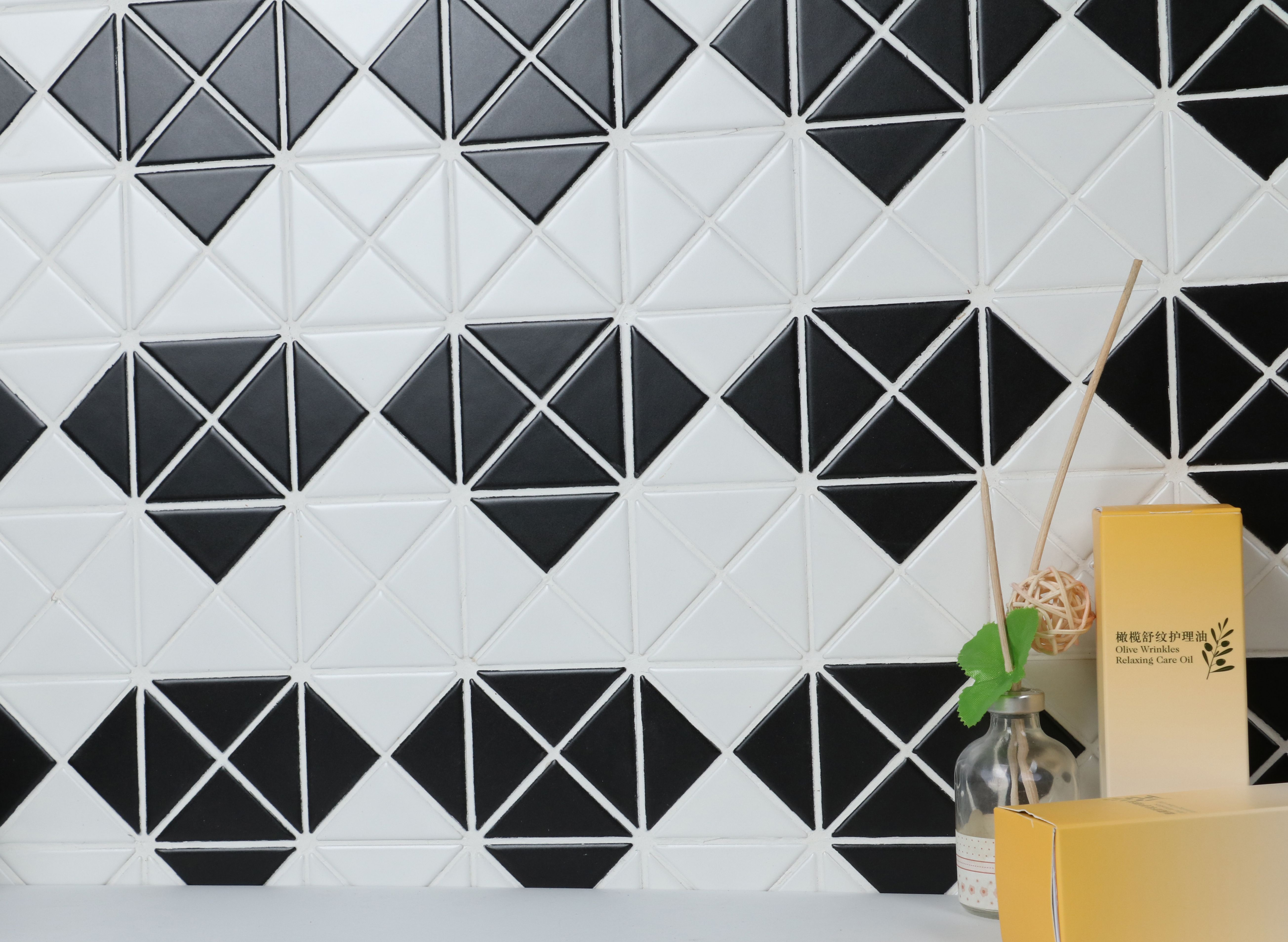 Matte finish triangle tile easy to clean and ideal for interior matte finish triangle tile easy to clean and ideal for interior design kitchen wall dailygadgetfo Images