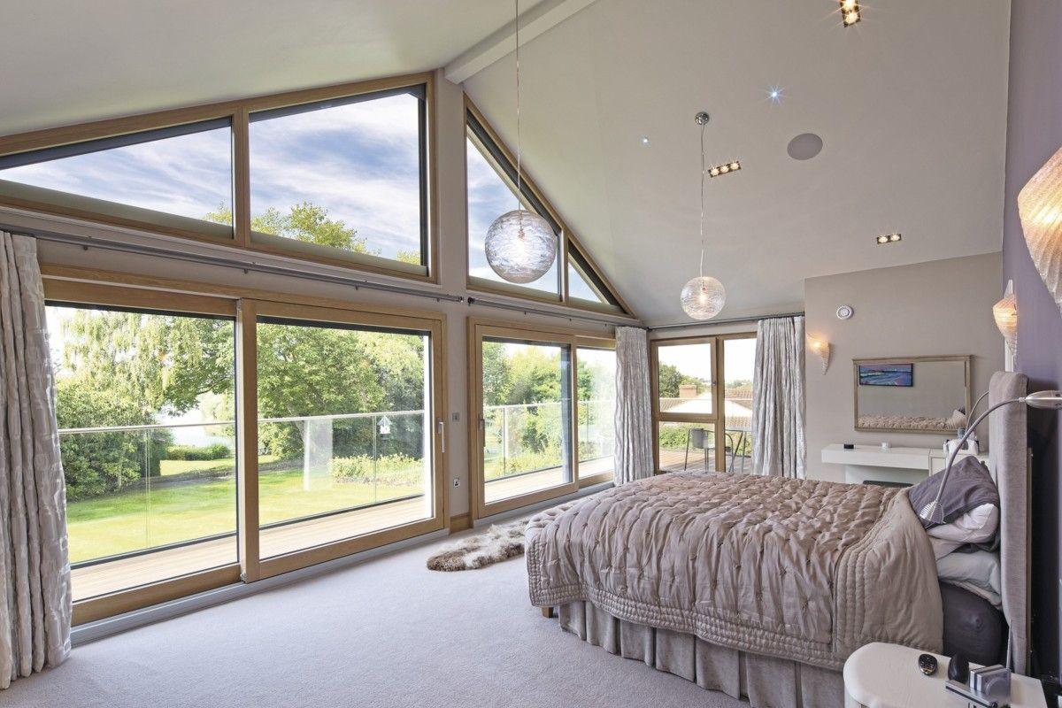 Inneneinrichtung Schlafzimmer schlafzimmer mit dachschräge und glasgiebel inneneinrichtung