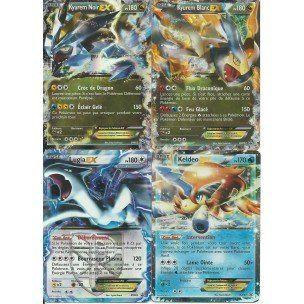 Lot de 4 cartes pok mon ex kyurem blanc noir lugia et - Carte pokemon a imprimer gratuitement ex ...