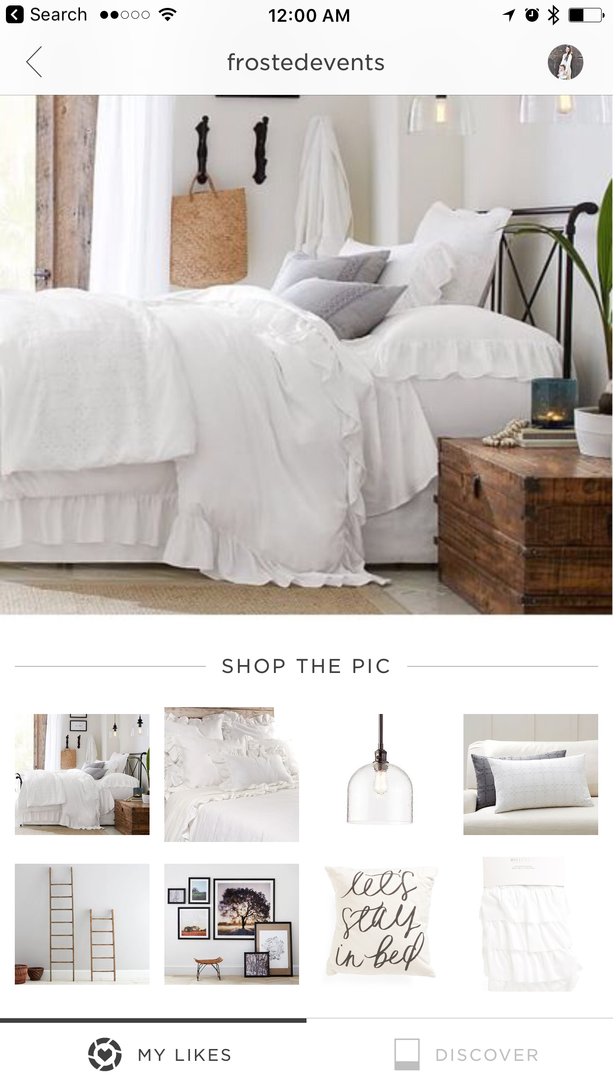 Bedroom ideas white bedding, ruffle duvet from Pottery