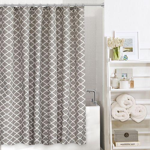 Colordrift Misha Fabric Shower Curtain Fabric Shower Curtains Curtains Kohls Curtains