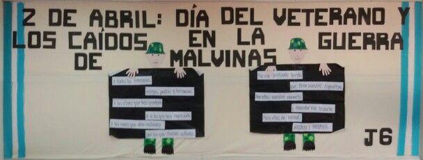 Cartelera dia de las Malvinas.
