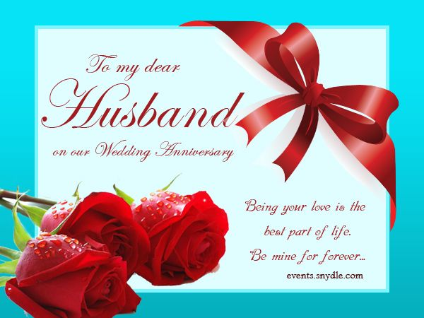 Wedding Anniversary Cards For Husband Dilight