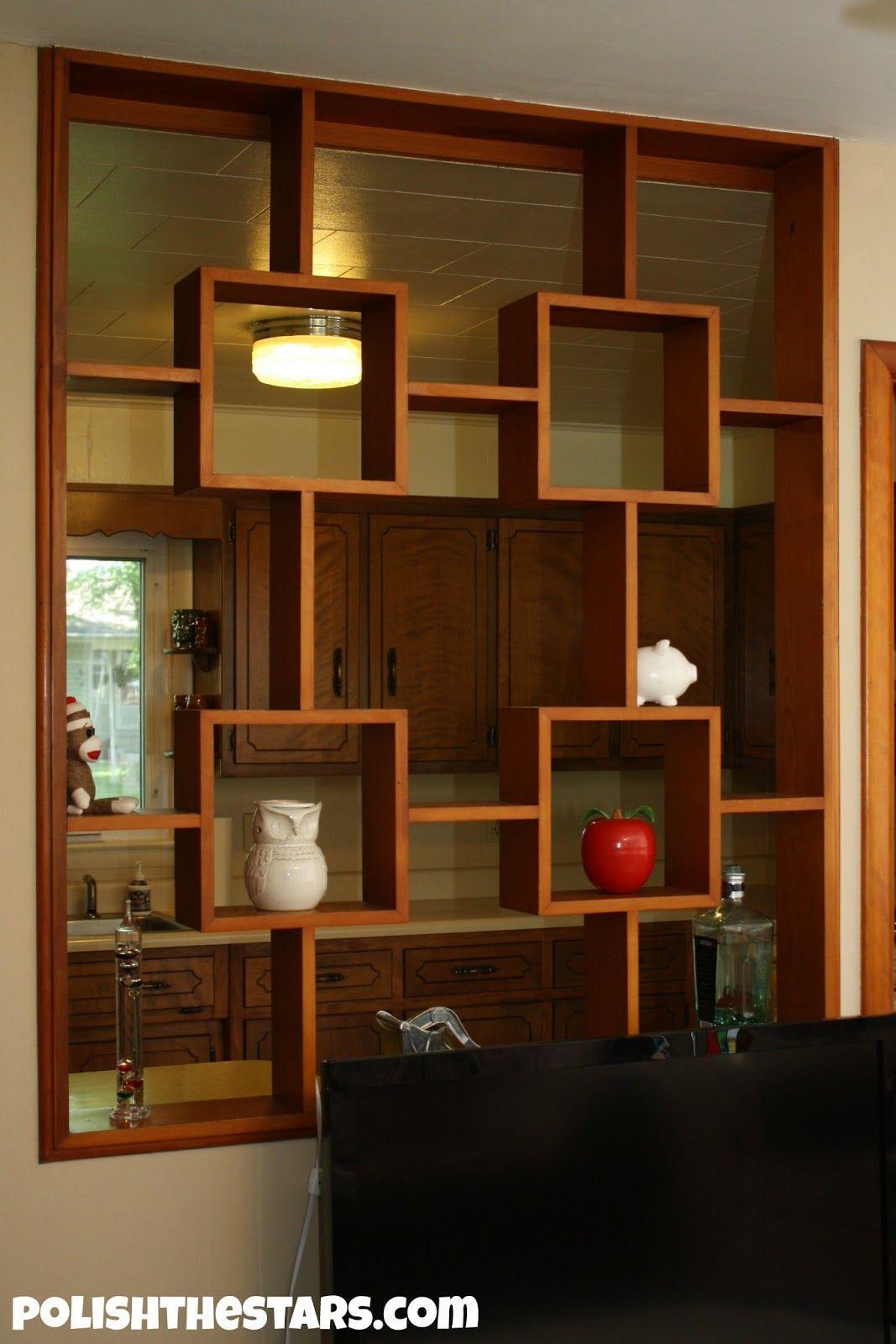 Fascinating half wall room divider for interior design home