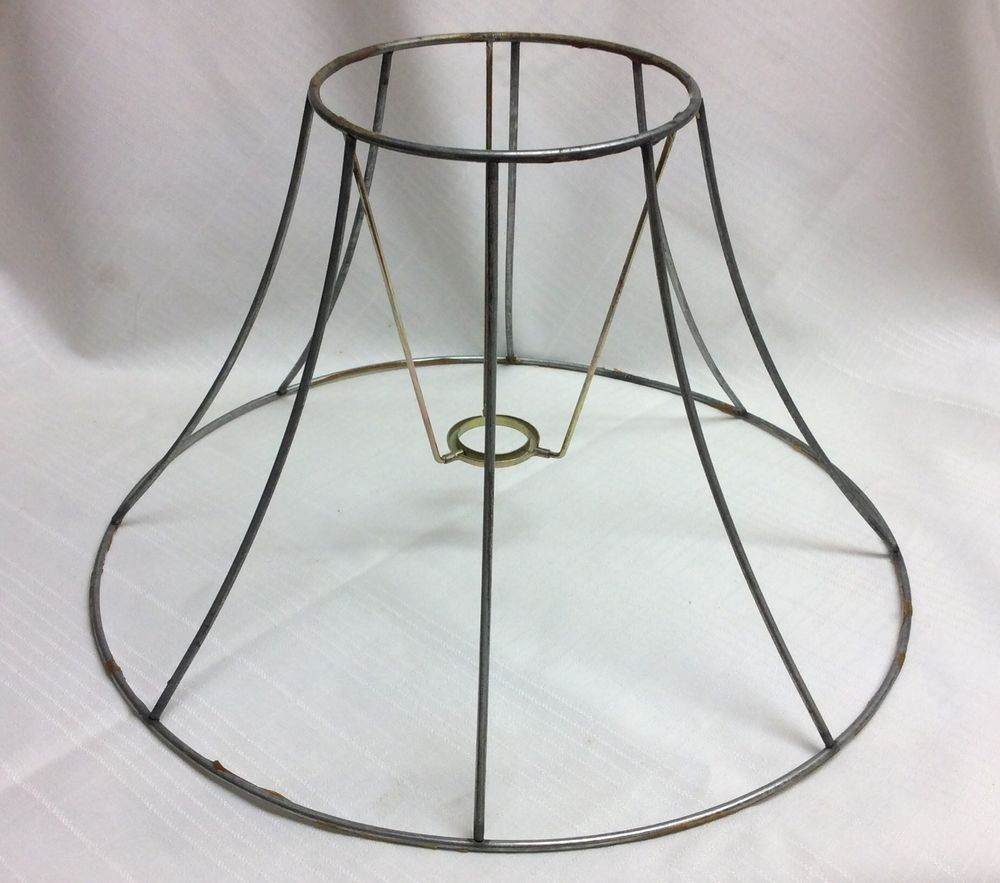 Wiremetal lamp shade formframe 9 height 8 panel antiques and wiremetal lamp shade formframe 9 height 8 panel greentooth Choice Image