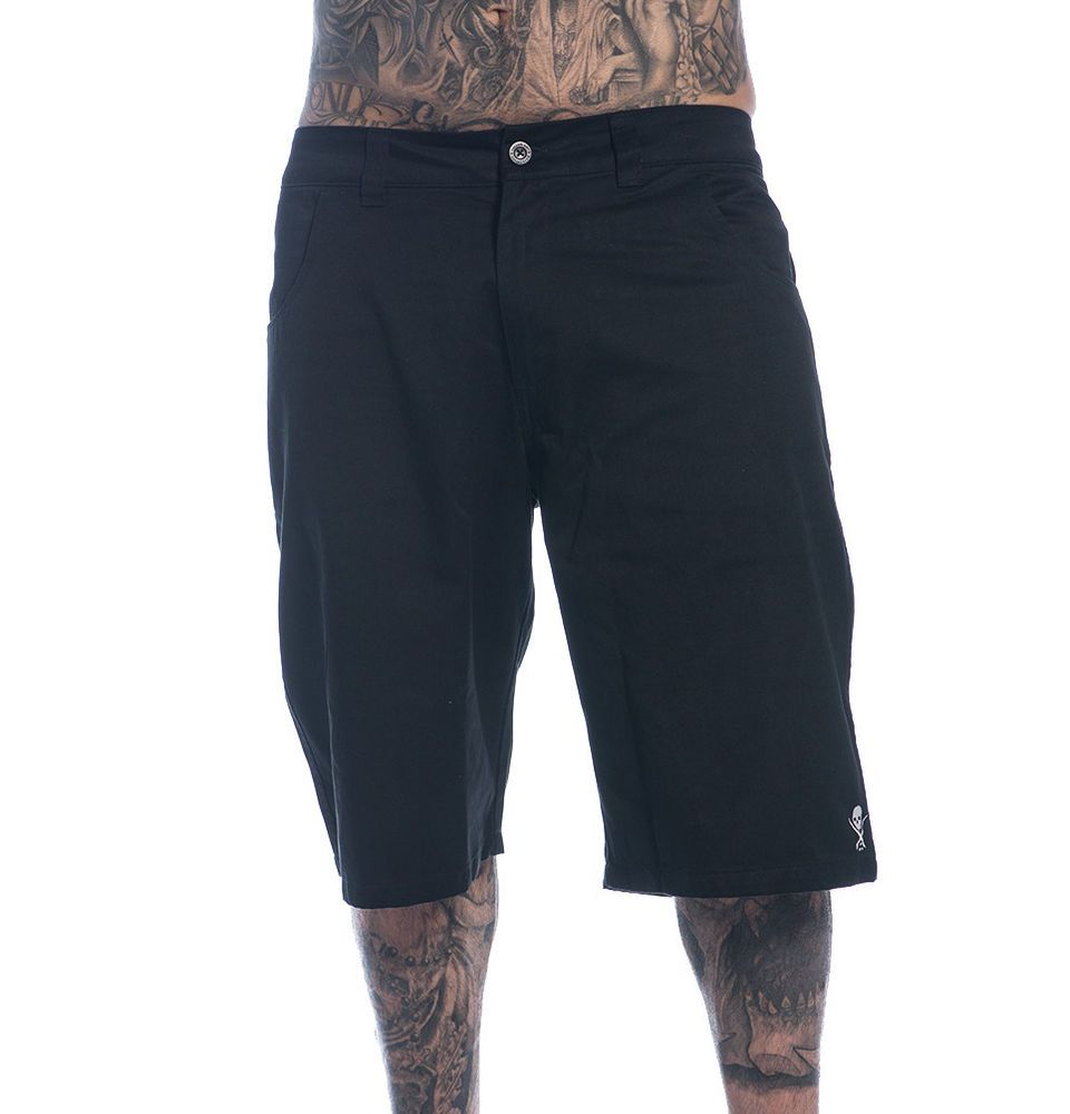 4642287618 Sullen Clothing Pier Walkshorts Men's Black Cotton Chino Shorts with  Pockets #Sullen #KhakisChinos