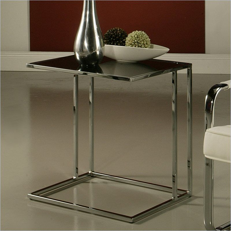 Pastel Furniture Norway Glass Top End Table in Black - QLNW435792214 - Lowest price online on all Pastel Furniture Norway Glass Top End Table in Black - QLNW435792214