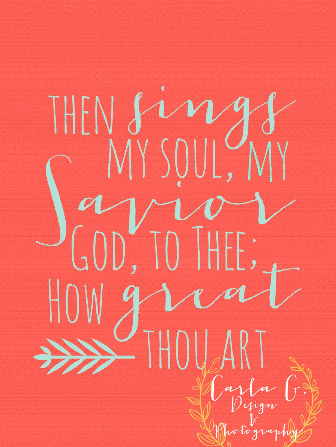How great thou art by carlagdesignandphoto on etsy