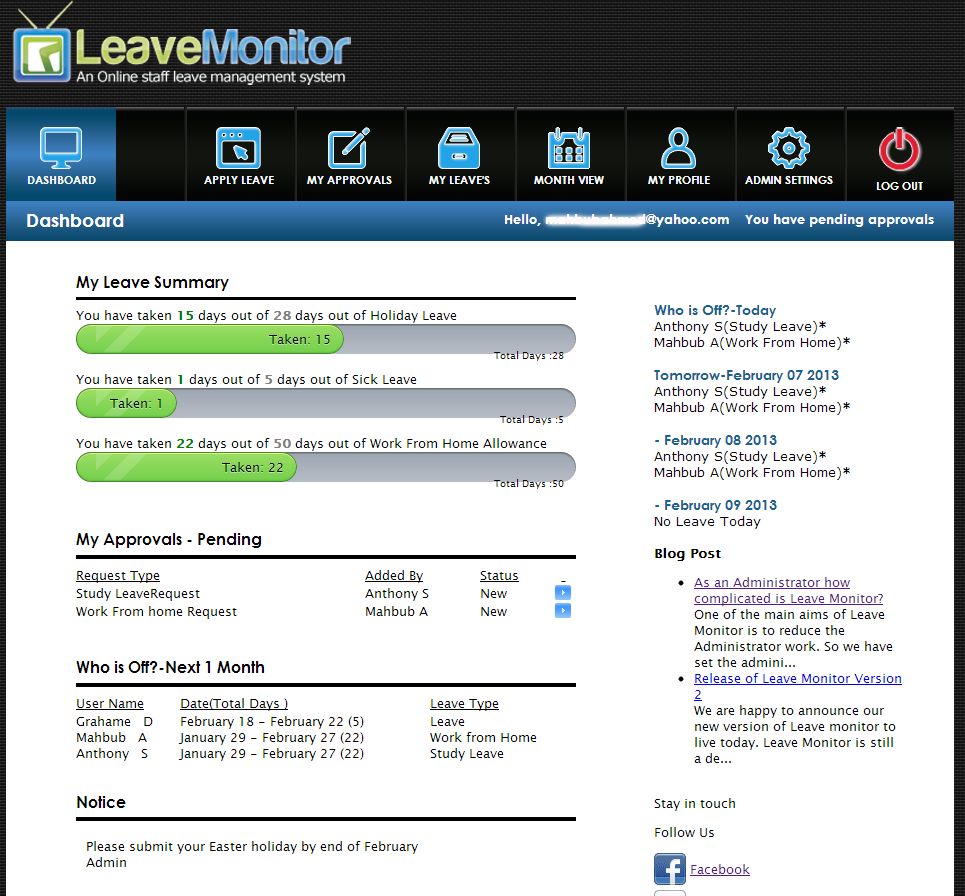 leave monitor brings a new innovation for the hr administration
