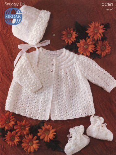 149f80be9973 SIRDAR 3191 KNITTING PATTERN   Baby s matinee coat