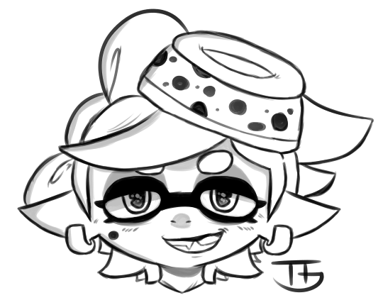 Splatoon Sisters Coloring Page Squid Sketches Coloring