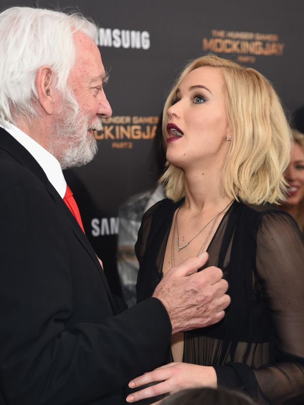 jennifer lawrence boob grab donald sutherland