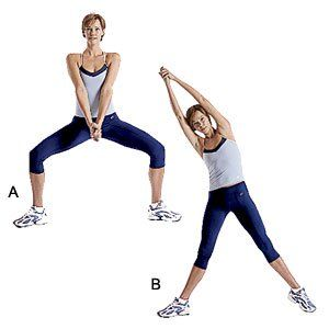 double arm reach  womens health magazine abs workout