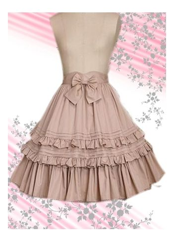 Pink Bow Cotton Lolita Skirt Lolita Clothes