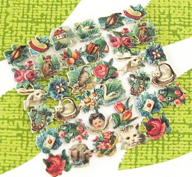 vintage die cut sheet