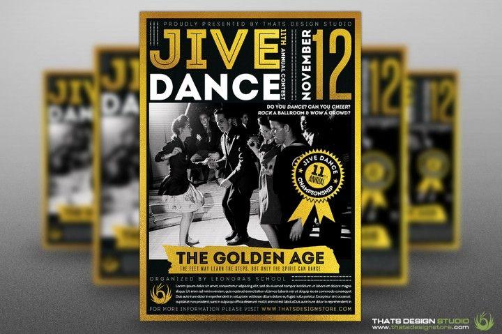 Jive Dance Flyer Template | The Hungry Jpeg Flyer Templates | Pinterest